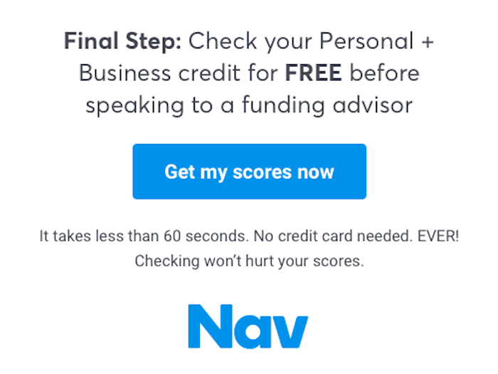 Nav Personal + Business Free Credit Check