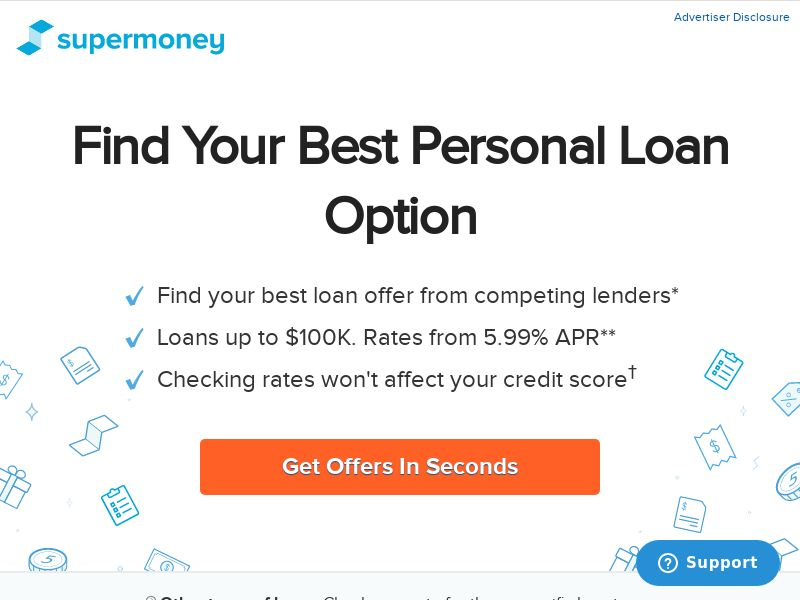SuperMoney Personal Loans